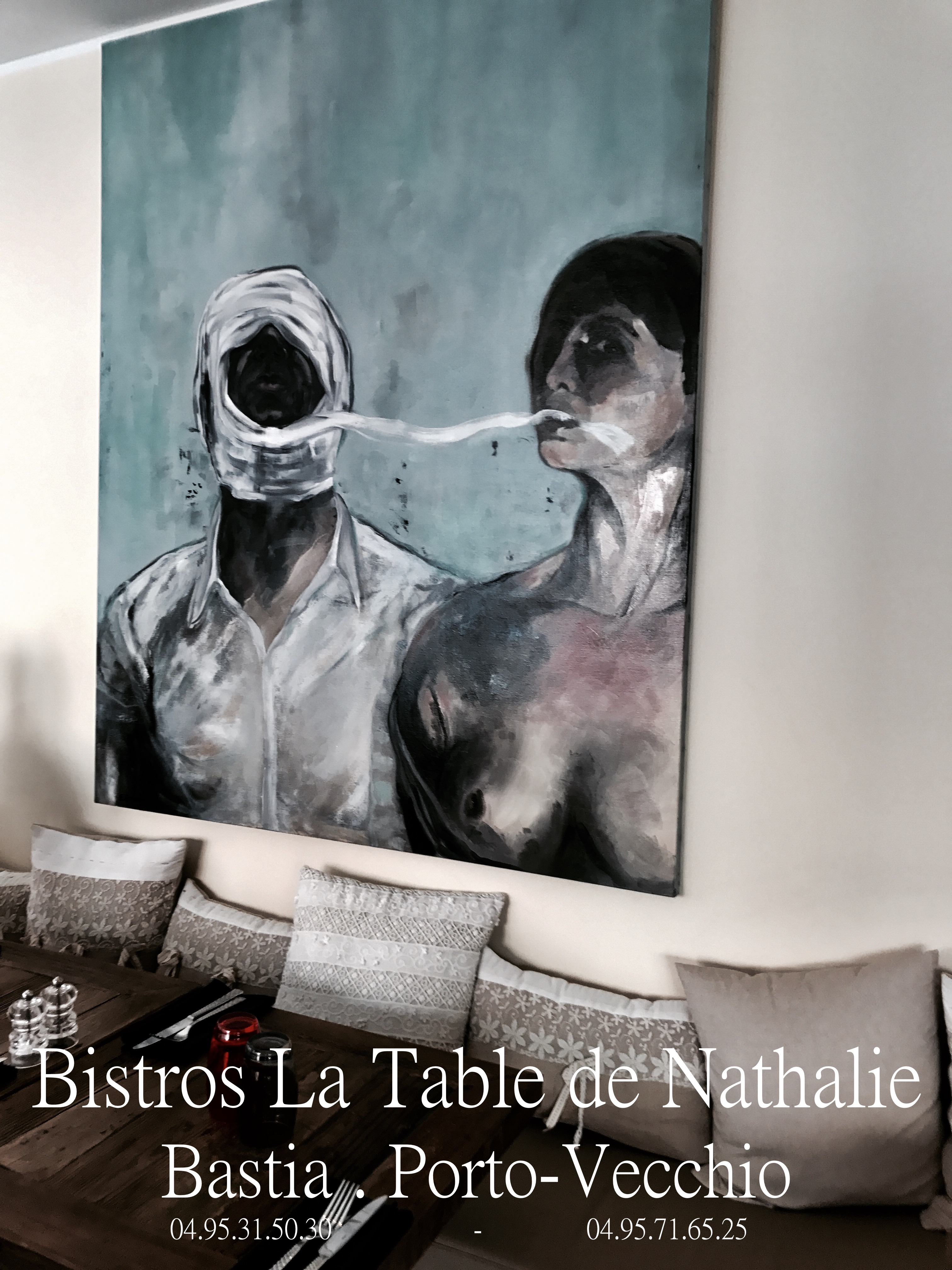 la table de nathalie o manger porto vecchio sud corse. Black Bedroom Furniture Sets. Home Design Ideas